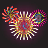 Vector illustration of the concept of a holiday fireworks Royalty Free Stock Photography
