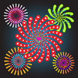 Vector illustration of the concept of a holiday fireworks Royalty Free Stock Photos