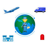 Vector illustration of the concept of mail delivery Stock Photos