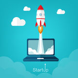 Vector illustration concept for new business project start up in Stock Photo