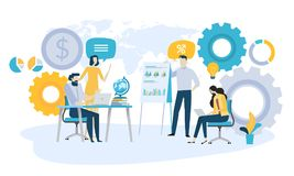 Free Vector Illustration Concept Of Global Investment, Market Trends, Economic Analysis, Startups Stock Photos - 124289503