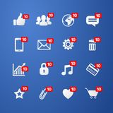 Vector illustration concept thumbs up like social network icon with new appreciation number symbol. And diffenrent online web icons, mobile phone, credit card vector illustration