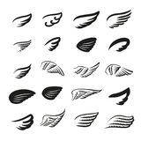 Vector illustration concept of wings logo. Icon on white background royalty free illustration