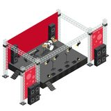 Concert Stage in Isometric Illustration Stock Image