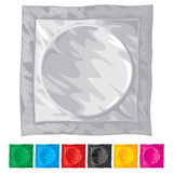 Vector illustration of condom Royalty Free Stock Photo