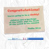 Vector illustration of congratulation of dad with the onset of pregnancy. Pregnancy Announcement. New Dad Card. Pregnancy Reveal Card Stock Photo