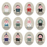 Vector illustration, consisting of 12 images Royalty Free Stock Photo