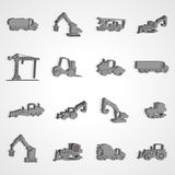 Vector illustration Construction machinery background Stock Image