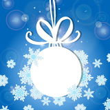 Vector illustration, contains transparencies, gradients and effects. white Christmas ball on a light background. Christmas ball wi Royalty Free Stock Photo