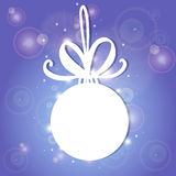 Vector illustration, contains transparencies, gradients and effects. white Christmas ball on a light background Royalty Free Stock Image