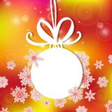 Vector illustration, contains transparencies, gradients and effects. white Christmas ball on a light background Stock Images