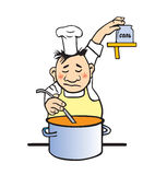 Vector illustration of the cook royalty free stock image