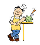 Vector illustration of the cook Stock Image