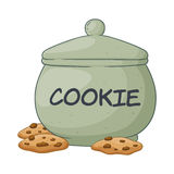 Vector Illustration of Cookie Jar. Vector illustration of a hand drawn big cookie jar royalty free illustration
