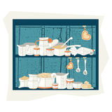 Vector illustration of cooking set Royalty Free Stock Image