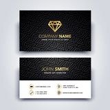 Vector Illustration Modern Creative Dark and Clean Business Card Template - Front and Backside. Vector Illustration Cool Modern Creative Dark and Clean Business stock illustration