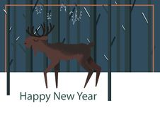 Vector illustration with copyspace with elk vector illustration