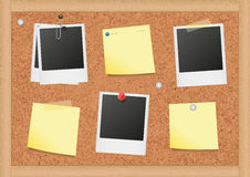 Vector illustration of a cork bulletin board with