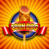 Vector illustration of corn dog Stock Image