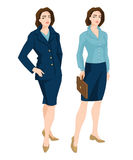 Vector illustration of corporate dress code. Royalty Free Stock Photo