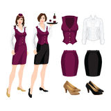 Vector illustration of corporate dress code. Stock Photography