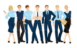 Vector illustration of corporate dress code. Royalty Free Stock Images