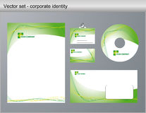 Vector illustration corporate identity Royalty Free Stock Photo