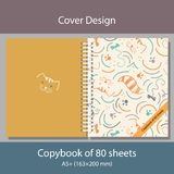 Cover design Copybook with cats Royalty Free Stock Images