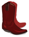 Vector illustration of cowboy boots Royalty Free Stock Photography