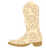 Vector illustration of cowboy boots Stock Images