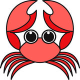 Vector illustration of a crab. Vector illustration of a stylized  crab Royalty Free Stock Photography