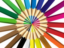 Vector illustration of crayon or color pencil Royalty Free Stock Image