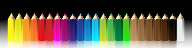 Vector illustration of crayon or color pencil. Easily edit and place your text Royalty Free Stock Photography