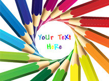 Vector illustration of crayon or color pencil. Easily edit and place your text Stock Photography