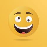 Vector illustration. Crazy emoticon face Royalty Free Stock Photo