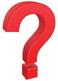 3D question mark Stock Image