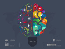 Vector illustration of Creative brain Idea Stock Image