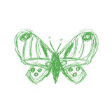 Vector illustration of a creative butterfly sketch icon Stock Photography