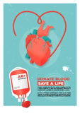 Vector illustration. Creative donor poster. Blood Donation.  Stock Images