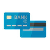 Vector illustration of credit card isolated on whi. Vector illustration of blue credit card isolated on white background Royalty Free Stock Photography