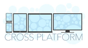 Vector illustration of cross platform concept Royalty Free Stock Images