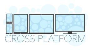 Vector illustration of cross platform concept stock illustration