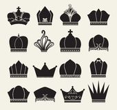 Crown collection Royalty Free Stock Image