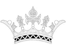 Vector Illustration Of A Crown Coloring Book Royalty Free Stock Photo
