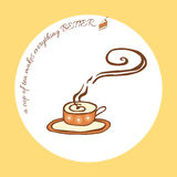 Vector illustration with a cup of aromatic tea and Stock Photo