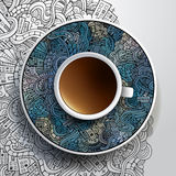 Vector illustration with a Cup of coffee Stock Photo
