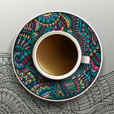 Vector illustration with a Cup of coffee Royalty Free Stock Photos