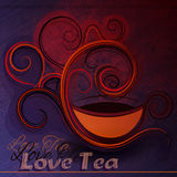 Vector illustration of a cup of tea. Royalty Free Stock Photo