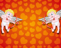 Vector illustration. Cupids. Royalty Free Stock Photos