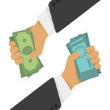 Vector illustration currency exchange. Stock Image